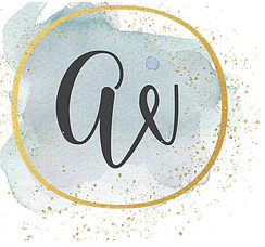 logo watercolor gold circle ai